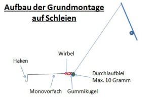 Grundmontage für Schleien